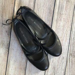 Stuart Weitzman Bolshoi Black Leather Flats 5.5 ✨